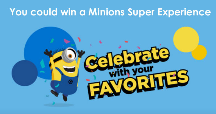 You could win a Minions Super Experience from Nabisco. Enter the Snacktime for Superpeople daily for your chance to win Free Nabisco products, backpacks, tumblers, sweatshirts, movie gift cards and more.