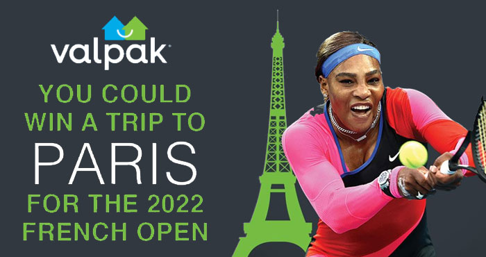 Enter for your chance to win a trip for two to Paris, France to attend the 2022 French Open Tennis Championship at the Roland Garros Stadium. A grand prize worth over $4,800!