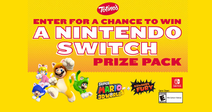 Enter for your chance to win a Nintendo Switch prize pack and Super Mario 3D World + Bowser's Fury game. Welcome game night home and enter for a chance to win a Nintendo Switch prize pack including the Super Mario 3D World + Bowser's Fury game. Please register to get started!