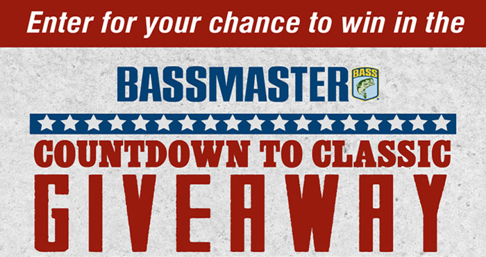 Enter the Bassmaster Countdown to Classic Giveaway daily. Two weekly winners will each take home a $500 Academy Sports+ Outdoors gift card. Get ready for the 2021 Bassmaster Classic with a gift card from Academy Sports+ Outdoors