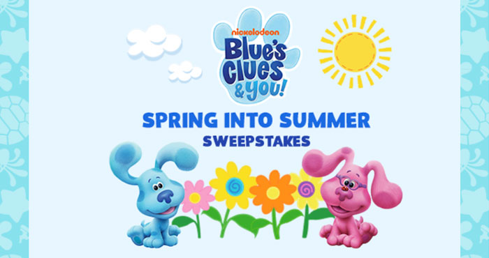 Enter daily for your chance to win one of 10 Blue's Clues and You! prize packs when you enter the Nick Jr. Blue's Clues & You Spring into Summer Sweepstakes