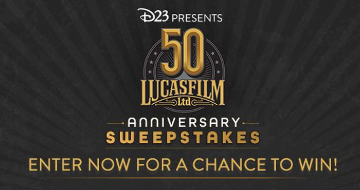 Celebrate 50 years of timeless #Disney storytelling, and immerse yourself in the epic worlds of Lucasfilm with a weekly sweepstakes with out-of-this-galaxy prizes!