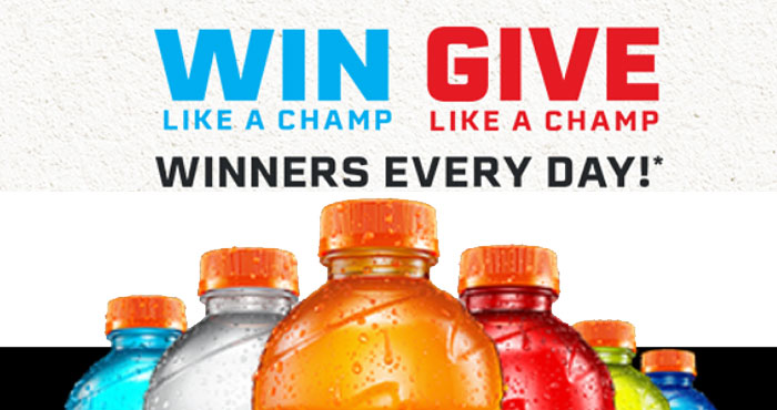 Play the Gatorade Summer Of Champions Instant Win Game today. There are winners everyday through October 30th. Play for your chance to instantly win limited edition Gatorade X Muhammad Ali Merch!
