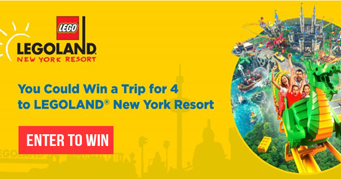 Enter for your chance to win a trip for 4 to LEGOLAND New York