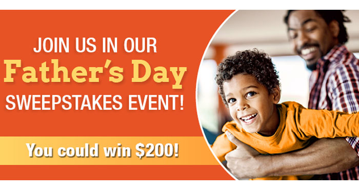 Enter the Healthy Children Father's Day Sweepstakes once each day for your chance to win a $200 gift card! Fourteen (14) lucky winners will be drawn, two each day during the event. Winners will be announced on Facebook