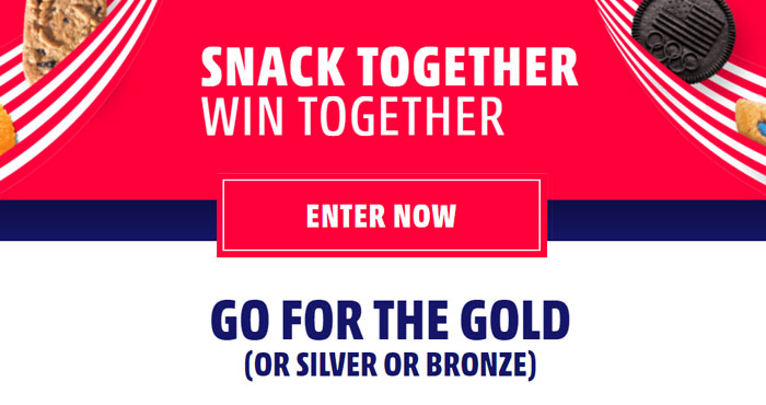 You could win an outdoor adventure trip for 4 from SnackWorks! To enter, post a photo or video that shows how you dunk or dip an OREO, belVita, Chips Ahoy!, or Ritz and include #togethernessgames #sweepstakes