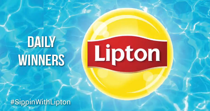 DAILY WINNERS! Enter for a chance to win a Lipton pool by tweeting a pic/video of how you enjoy a relaxing moment, use #SippinWithLipton #Sweeps