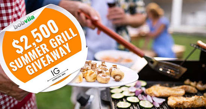 Enter Bob Vila's $2,500 Summer Grill Giveaway with IG Charcoal BBQ daily for a chance to win a special edition grill from IG Charcoal BBQ!