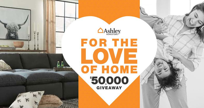 Enter for your chance to win $5,000! We know that your house is more than just a place. It's where the magic happens. What would you do with $5,000? Enter the For the Love of Home Ashley Furniture $50K Giveaway and let's find out.