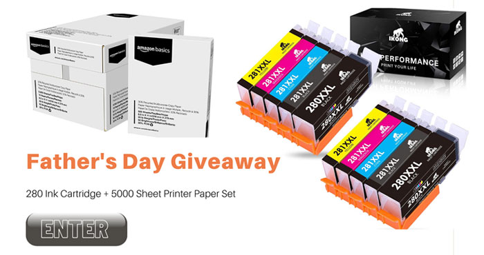OfficeWorld is giving 2 lucky winners the chance to win a set of 280 Ink Cartridge & 5000 Sheet Amazon Copy Printer Paper PLUS everyone who enters will get a Free 280 ink cartridge as well.