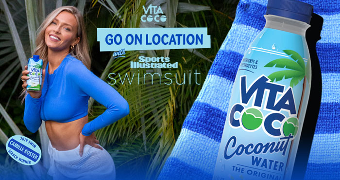 Enter for your chance to win a Flyaway Trip to a 2022 SPORTS ILLUSTRATED® Swimsuit Photoshoot plus other Feel Good Prizes in the Vita Coco Sports Illustrated Swimsuit Photoshoot Instant Win Game