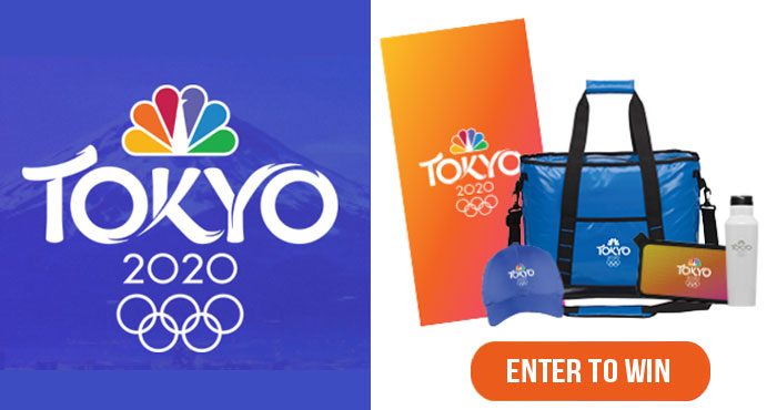The Olympic Rings are traveling across America and NBC is counting down to the Opening Ceremony July 23 with a giveaway. Enter for your chance to win the ultimate Tokyo Olympics summer prize pack!