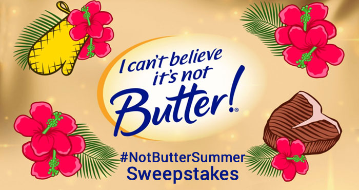 Transforms your backyard into an unbelievable chill oasis. Enter the #NotButterSummer Sweepstakes for a chance to win the Grand Prize Chill and Grill Pack, one of ten second prizes or one of twenty third prizes.