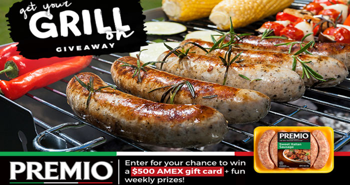 Summer has arrived! To celebrate the season of grilling, Premio Foods is giving YOU the chance to win a $500 AMEX gift card to put towards a new grill, plus a Premio Summer Swag Pack!