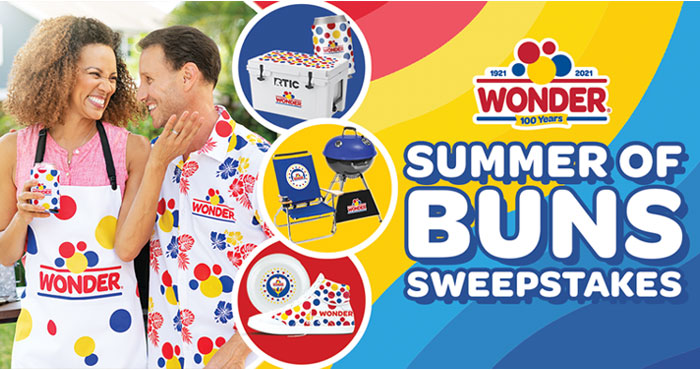 Get your grill on in style this season with Wonder Bread! We want to help make your summer full of wonder-ful memories! Enter to win a grill, cooler, Hawaiian shirt, bucket hat, and more!