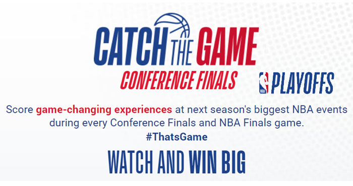 Score game-changing experiences at next season's biggest NBA events during every Conference Finals and NBA Finals game. Enter during every NBA Conference Finals game for a chance to experience NBA All-Star up-close-and-personal with this exciting prize package.