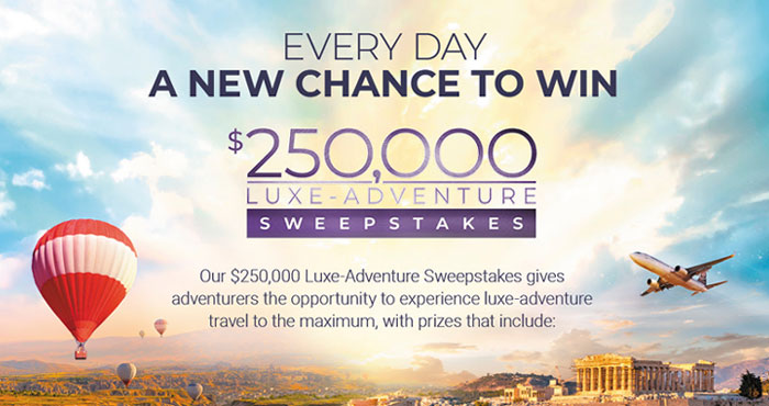 Enter for your chance to win an All-Inclusive All The Way cruise for two on an Atlas Ocean Voyage's World Navigator valued at $22,000. One winner will be chosen for each entry period for a total of 10 grand prize winners + 200 more winners will win Free L'Occitane products