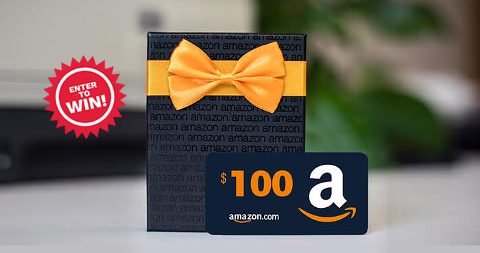 Enter to win a $100 Amazon gift card