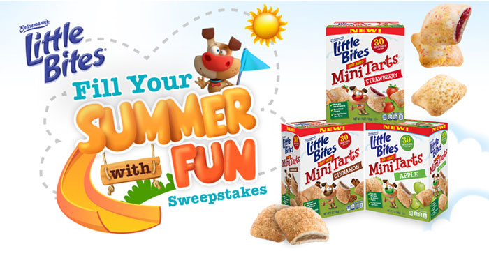 Little Bites Mini Tarts wants to make this a summer to remember so they are inviting parents to enter the Little Bites Fill Your Summer with Fun Sweepstakes! This is your chance to win a backyard playground setup and Little Bites Mini Tarts!