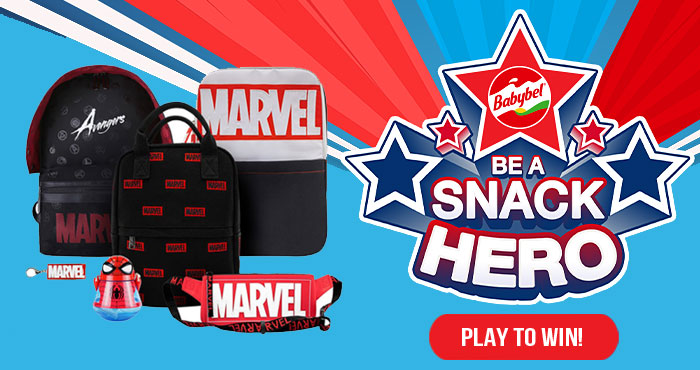 868 PRIZES! Enter for your chance to win a Marvel backpack and hundreds of other prizes for the whole family when you play the Babybel Snack Hero Instant Win Game. Play daily through September 24th to win!