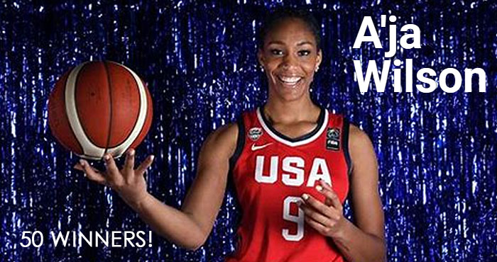 Enter for your chance to win an A'ja Wilson merchandise prize pack from Mtn Dew. A'ja Riyadh Wilson is an American professional basketball player for the Las Vegas Aces of the WNBA.