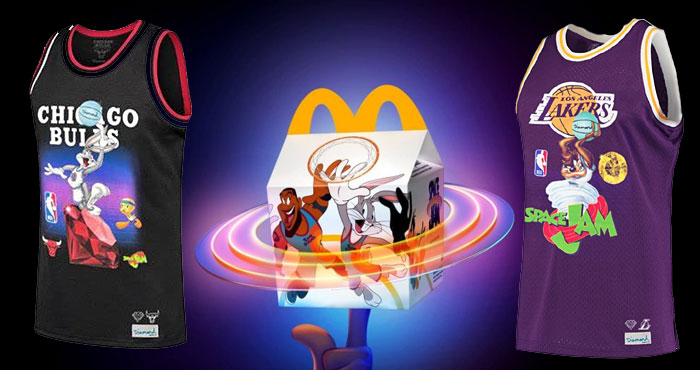 Enter for your chance to win a Space Jam Collection jersey from McDonald's. The nostalgia returns with McDonald's partnering up with upcoming animated/live-action film Space Jam: A New Legacy to create the ultimate Looney Tunes kids toys! Each box – uniquely designed to celebrate the film – will include one of 12 different characters dunking, dribbling and more.