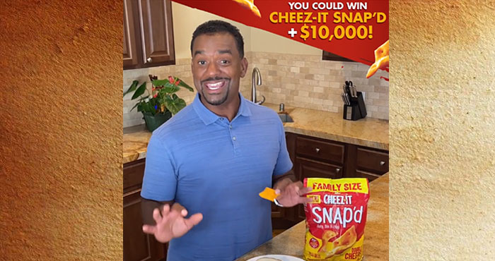 To help Americans out of their lunch rut, @cheezit Snap'd is offering one lucky winner the chance to take their lunch to the next level with a year's supply of Cheez-It Snap'd and $10,000 in lunch. You could win a year's worth of @cheezit Snap'd+ $10,000 of lunch money to level up your lunch. Tell us about your sad lunchtime sandwich in the comments with #SnapdMySandwichEntry for your chance to win.