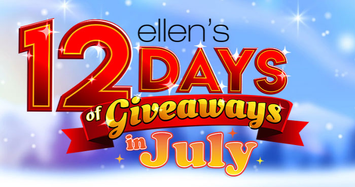 Enter Ellen's 12 Days in July Daily #Giveaway and you are automatically entered into the 12 Days in July Grand Prize Drawing!  If you're today's winner, you'll take home everything you see listed on the giveaway page.
