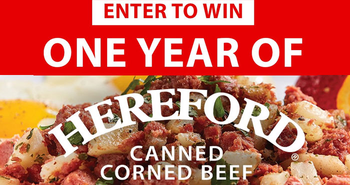 Win a Year of Hereford Corned Beef Sweepstakes