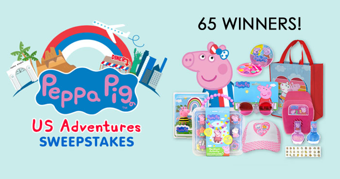 65 WINNERS! Enter for your chance to win a Peppa Pig Adventures Prize Pack so you can be Oinktastic! The Peppa Pig show offers kids adventures, mishaps and friendships with Peppa Pig, her brother George, their parents, and the other animal families who make up their town