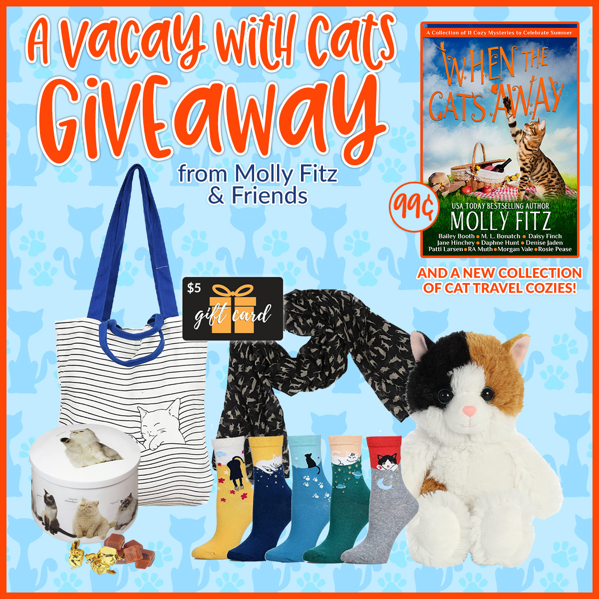 A Vacay with Cats Giveaway from Molly Fitz & Friends