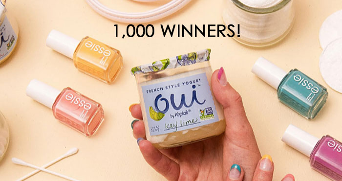 Enter for your chance to win 1 of 1,000 Oui Self Care Packs