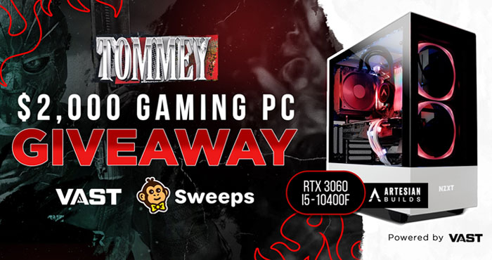 Tommey $2,000 RTX 3060 Gaming PC Giveaway