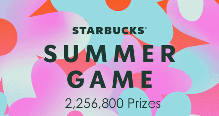 The Starbucks Summer game starts on July 21st. Starbucks Rewards members can play for a chance to win free drinks, summer merchandise, instant prizes and thousands of Stars.So. Many. Prizes.Every time you play, you're walking away with an instant prize or a sweepstakes entry.