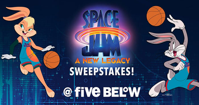Enter for your chance to win an amazing Grand Prize from Five Below that includes Space Jam: A New Legacy Memorabilia that includes an authentic prop replica basketball in a collector's display case AND an animation still with an authentic digital signature from Director Malcom D. Lee.