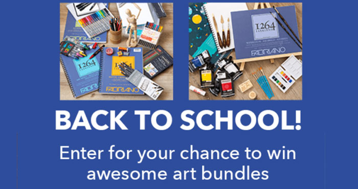 Enter for your chance to win either a Back To School Painting Bundle or Back To School Drawing & Sketching Bundle when you enter the JOANN Back To School Sweepstakes