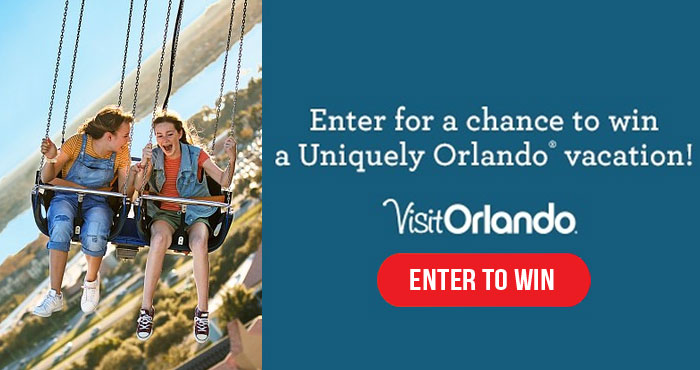 Enter for your chance to win an unforgettable getaway for two to explore the natural side of Orlando, Florida. Orlando will always be a place to reconnect with what matters most to create wondrous memories. And now you can be a VIP and win a getaway-for-two package to Orlando!