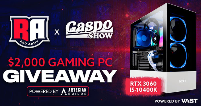 Win a $2,000 RTX 3060 Gaming PC from Red Army and Gaspo Show