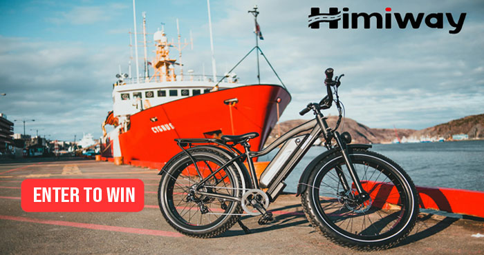Enter now for a chance to win Himiway Cruiser All Terrain Electric Fat Bike worth $1599! One Cruiser, All Terrains!