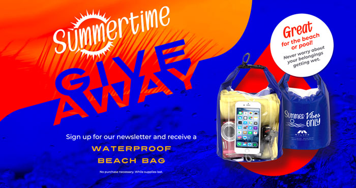 Mylyfe is giving away FREE Summer Vibes Only waterproof beach bags. All you need to do is sign up to receive their email newsletter. There is no purchase necessary. Supplies are limited.