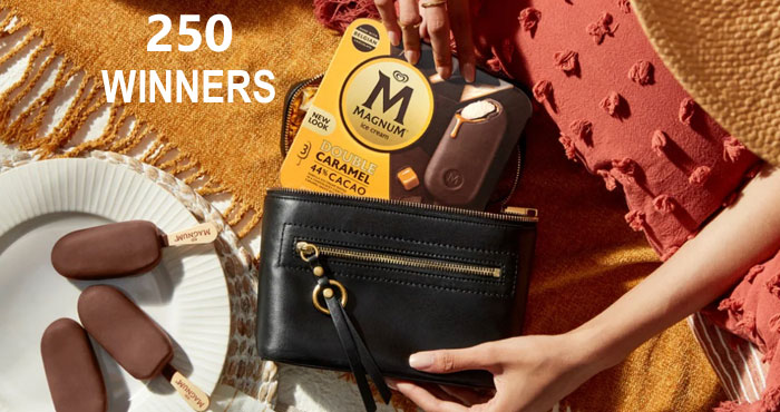 Enter for your chance to win your very own limited edition Rebecca Minkoff x Magnum ice cream freezer handbag perfect for keeping things cool on the go and made to fit Magnum ice cream's decadent bars. Enjoy this exclusive bag and style your summer with #MagnumMoments!