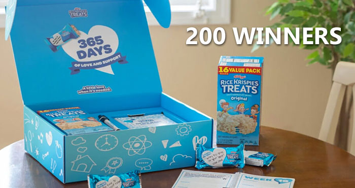 """Rice Krispies Treats created the limited-edition """"Rice Krispies Treats 365 Days of Love and Support Kit."""" It includes a one-of-a-kind daily planner packed with inspirational prompts and the perfect pen to make it easy for parents to write heartfelt messages of love and support both in the planner and on Rice Krispies Treats wrappers the whole year through. Better yet, the kits come with a year's supply of Rice Krispies Treats — mouthwatering, comforting food paired with your messages of love and support."""