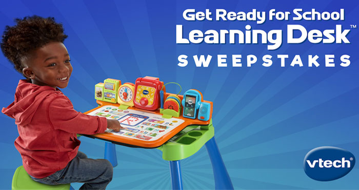 VTech Toys Get Ready For School Learning Desk Sweepstakes