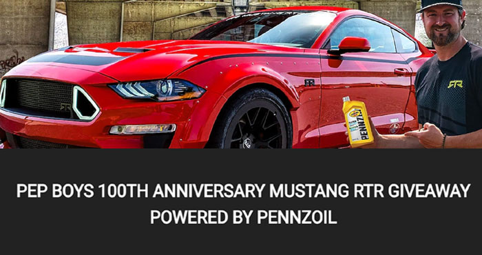 Win a Limited Edition Mustang RTR from Pennzoil