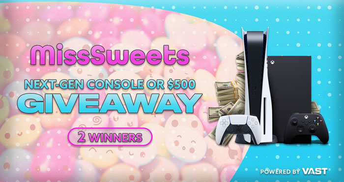 MissSweets Next-Gen Console or $500 Giveaway
