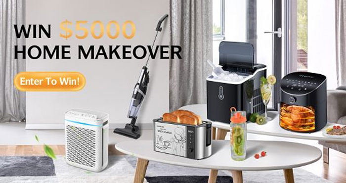 It's time to replace your home appliances and Homasy wants to help by giving away $5000 prizes to upgrade your home appliances!