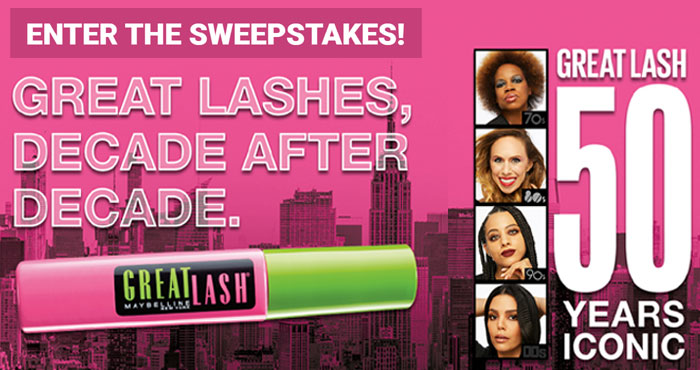 Enter for your chance to win a Maybelline Great Lash Washable Very Black 2 Pack and a $10 gift card, and for an entry into the Grand Prize drawing for one of five $500 Walmart gift cards and a Great Lash Washable Very Black 2 Pack.