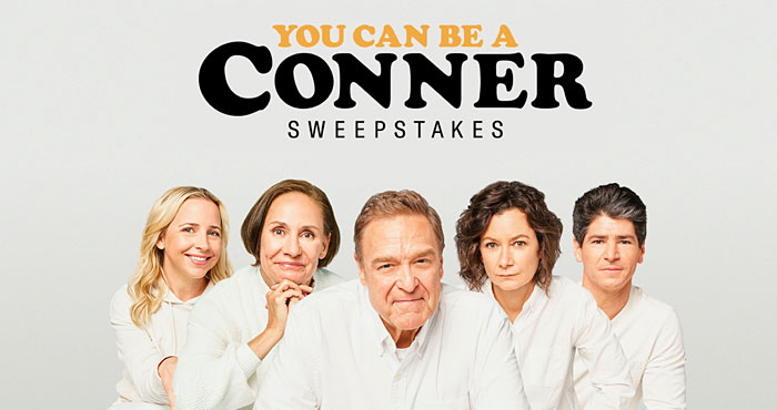 Enter now for a chance to appear on the live premiere episode of #TheConners on Wednesday, September 22nd on ABC! You're already a Conner at heart and now you can be a part of the show you love too! Enter the #YouCanBeAConnerSweepstakes