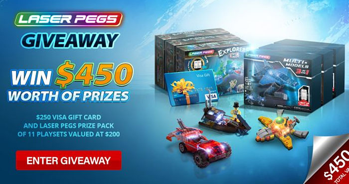 Laser Pegs Sweepstakes: Win $450 Worth of Prizes!
