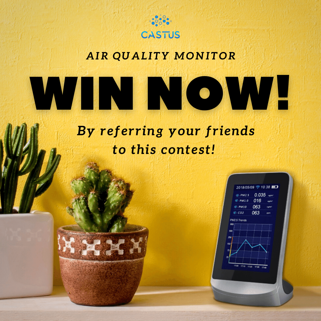 Castus Portable Air Quality Monitor Giveaway